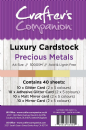 Cranfters Companion Luxury Cardstock Pack - Precious Metals